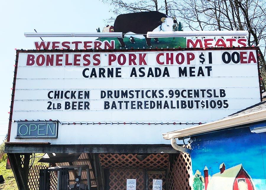 April 2018 Western Meats Specials Billboard